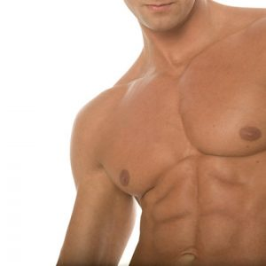 Laser hair removal upper body for men
